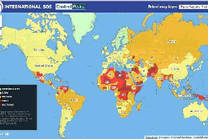 旅游风险地图发布 非洲和中东是最危险的地区