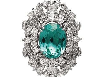 帕拉伊巴珍稀碧玺与钻石相映生辉