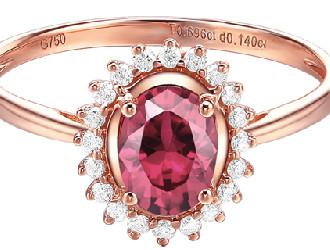 新宝珠宝推出多款碧玺镶嵌新品