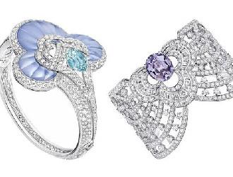 蓝色碧玺搭配钻石 路易威登全新珠宝系列展现高冷美