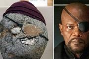 """日本博物馆展出700块人面奇石 """"撞脸""""各路名人"""