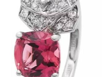 Piaget粉色碧玺钻石 简洁而精致