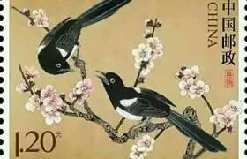 中国邮政将在七夕节发行《喜鹊》特种邮票