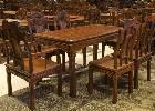 红木家具价格:大红酸枝餐桌七件套价格是多少?