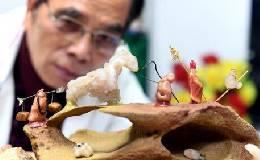 七旬老人用奇石摆出《西游记》剧情故事