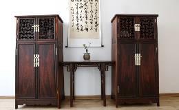 红木家具价格:大红酸枝独板透格圆角柜价格怎样?