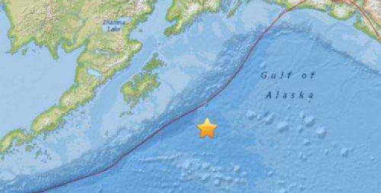 美国阿拉斯加海岸发生8.0级地震