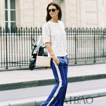 佐色(ZOSOUL)品牌女装 带边运动裤给春季裤装带来新乐趣