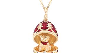 Gemfields与法贝热(Fabergé)推出的Palais Tsarskoye Selo系列贺岁彩蛋挂坠