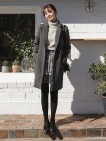 腿粗冬天穿什么显瘦 大衣+短裙+学院鞋相当知性有气质