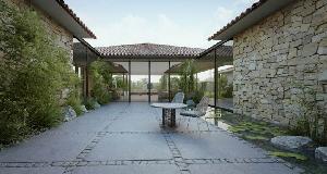 平原别墅:巧妙的室内设计搭配上精心修剪的花园景色相得益彰