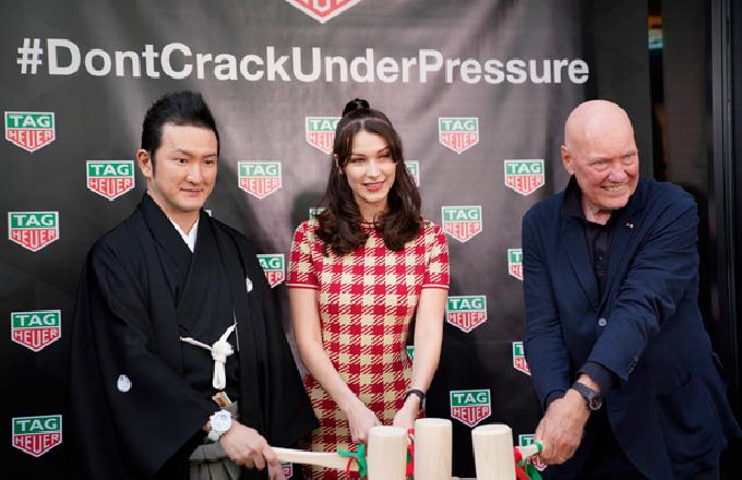 超模贝拉哈迪德为泰格豪雅日本新店揭幕