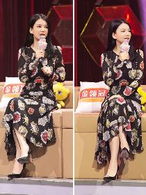 瘦下来的李湘身穿印花裙超惊艳