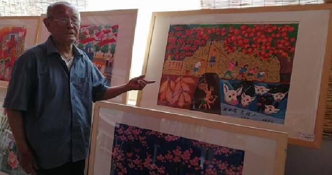 青州农民画家 借鉴达芬奇的绘画技巧