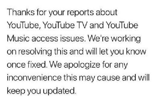 YouTube全球宕机 满是视频的网页去哪儿了?