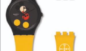 斯沃琪特别推出两款艺术家Damien Hirst设计特别款腕表 向米奇致敬