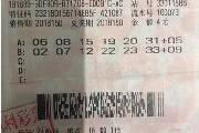 运气爆棚 杭州一彩民4元中双色球625万