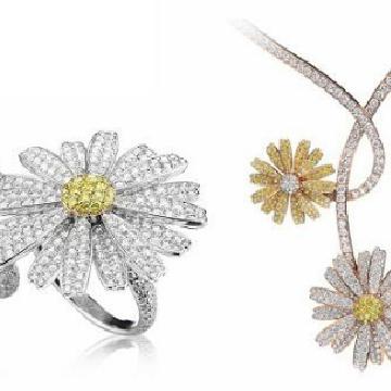 Tabbah推出Daisy Love系列:彩色钻石雏菊