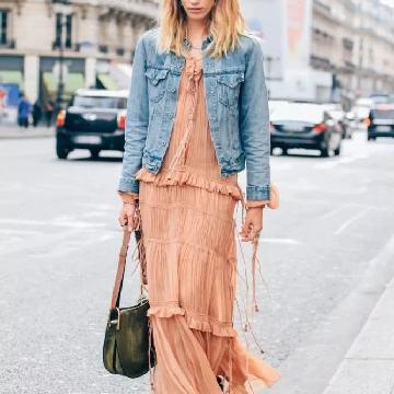 时尚达人春季街拍示范 经典牛仔单品永不过时
