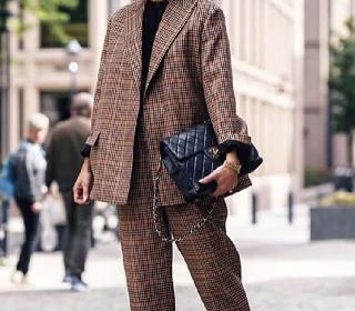 欧美街拍造型示范 三款西装单品显瘦又好搭