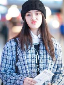 香奈儿女孩林允上海机场私服街拍