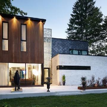加拿大Aldo大气简约的林中豪宅欣赏