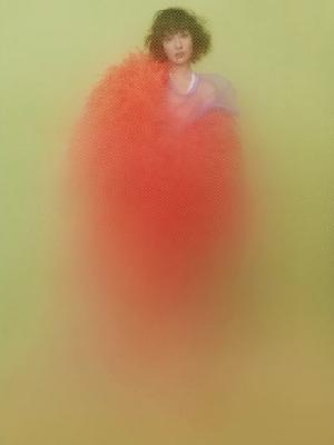 周迅身穿Marc Jacobs橘色鸵鸟毛外套 撞衫多位女星