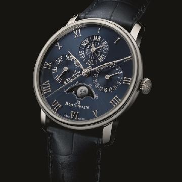 宝珀推出全新Villeret经典系列万年历月相腕表