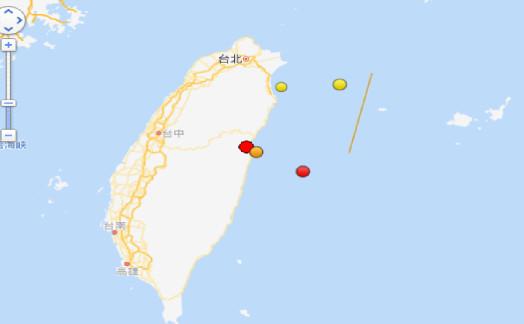 台湾花莲4.5级地震 震源深度15千米