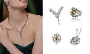 7年搜集了多种缤纷色泽的天然彩钻 以动物为灵感设计的珠宝
