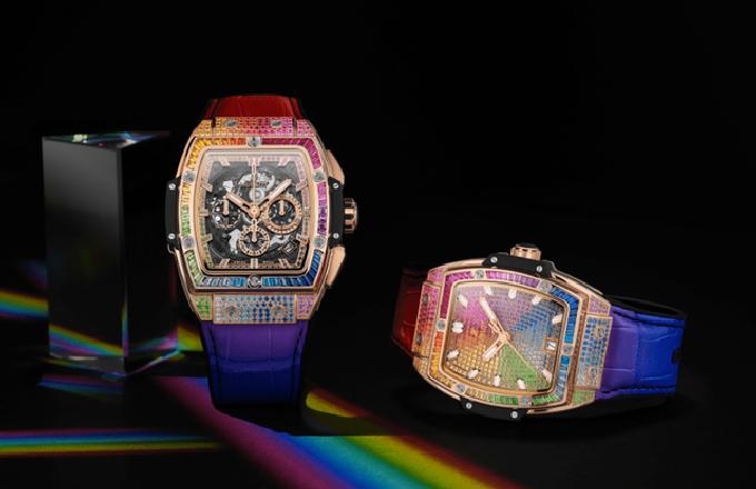 宇舶彩虹宝石手表 延伸彩虹圈设计大胆演绎宝石美学