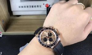 劳力士香槟金宇宙计时迪通拿腕表 简直不要太毒!