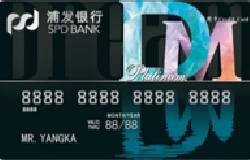 浦发银行银联梦卡DM字母卡