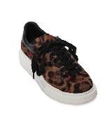 Alexander McQueen oversize黑色豹纹运动鞋