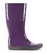 Furla紫色雨靴