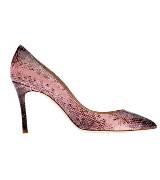 MiuMiu 粉色蛇纹高跟鞋