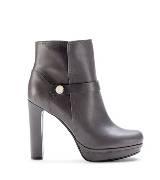 Furla栗色牛皮踝靴