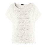 H&M白色针织上衣