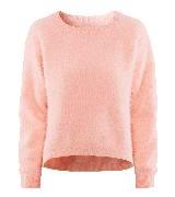 H&M粉色安哥拉兔毛衫