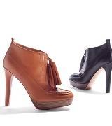 COACH 棕色牛皮高跟鞋