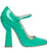 Miu Miu2014春夏系列浅绿色高跟鞋