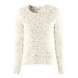 H&M银丝混编纯白针织衫