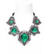 Lanvin浪凡绿宝石镶钻项链