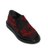 Alexander McQueen oversize红色提花运动鞋