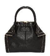 Alexander McQueen亚历山大·麦昆2014年春夏系列黑色手拎包