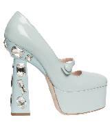 Miu Miu2014春夏系列浅蓝色镶钻高跟鞋