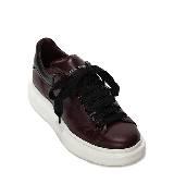 Alexander McQueen oversize酒红色运动鞋