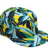 H&M CONSCIOUS系列环保绿色花朵棒球帽鸭舌帽