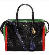 Alexander McQueen亚历山大·麦昆2014年春夏系列黑红绿手拎包
