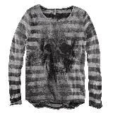 H&M Divided Grey系列骷髅图案条纹上衣